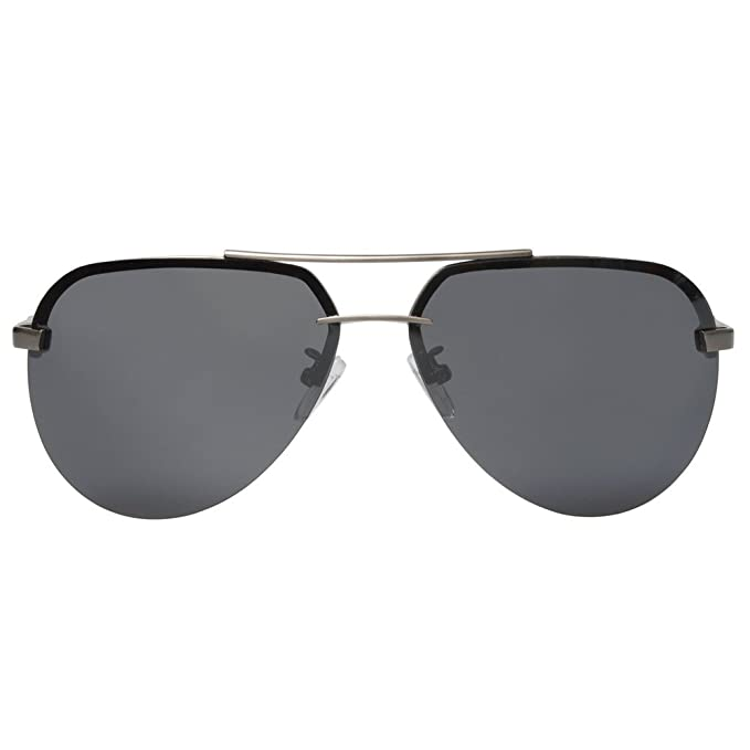 Roron Premium Aviator Polarized Sunglasses Rimless ALA208 ...