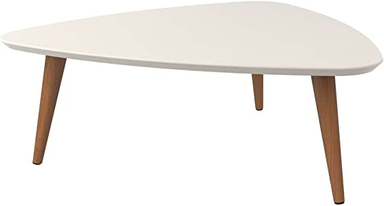 Manhattan Comfort Utopia Low Triangle Coffee Table, Off Off White