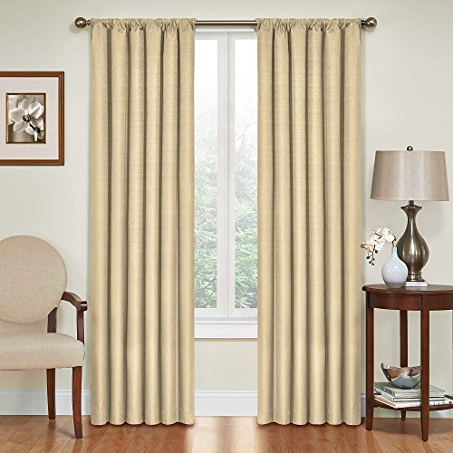 Eclipse 10707042X063CA Kendall 42 Inch By 63 Inch Thermaback Blackout  Single Panel, Café. By Eclipse Curtains