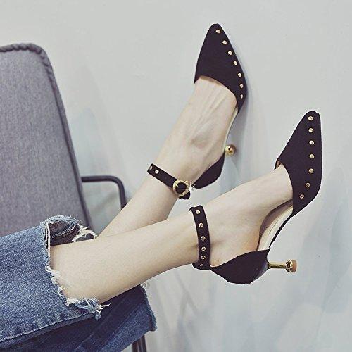 Angrousobiu Spitze feine mit High Heels und und und vielseitig light-straps mit Damen Schuhe Sandalen Weiblich 6ee0f9