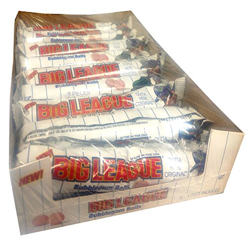 Big League Chew Gumballs 5 Piece Packs (Pack of 18) -