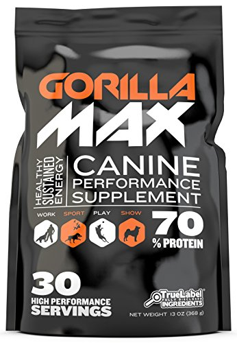 GORILLA MAX Protein Muscle Supplement for Dogs Size:30 Servings 368 g