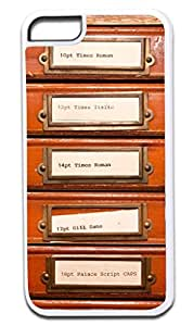 Vintage Typecases- Hard Plastic Case in White- for the Apple Iphone 4, 4s Universal