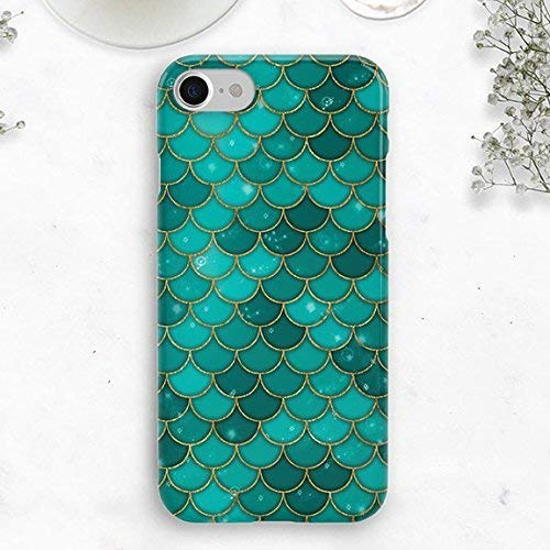 new products e0221 4bea9 Green Mermaid Scales Case, iPhone 8, Durable Case, iPhone X, iPhone 7 Case,  Iphone 6 case, Little Mermaid Case