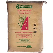 Wholesome Sweeteners Organic Cane Sugar (ECJ), 50 pounds