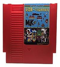 208 in 1 NES Game Cart Video Game Multi Super Games (Red Cartridge)
