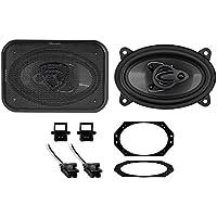 1997-2002 Jeep Wrangler TJ Rockville 4x6 Front Factory Speaker Replacement Kit