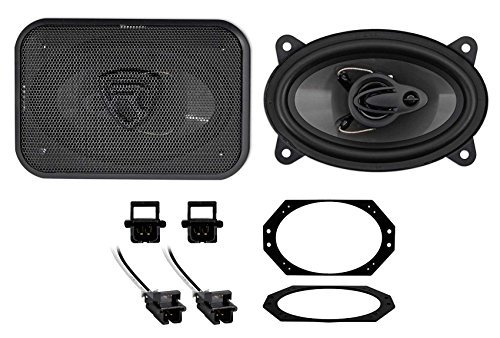 Rockville 4x6 Front Factory Speaker Replacement for 1997-2002 Jeep Wrangler ()
