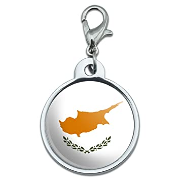 Chrome Plated Metal Small Pet Id Dog Cat Tag Country National State