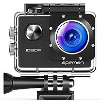 APEMAN 4K Action Cam Wi-Fi 16MP Ultra FHD Impermeabile 30M Immersione Sott'acqua Camera con Schermo 2 Pollici 170 Gradi Ampia Vista Grandangolare/ Telecomando 2.4G/ 20 Accessori all'Interno