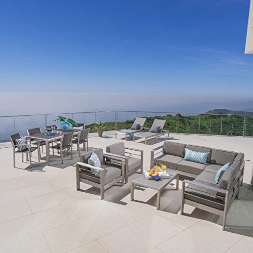Coral Bay Outdoor Wicker Dining Set with Sofa Set, Club Chairs, and Lounges ()