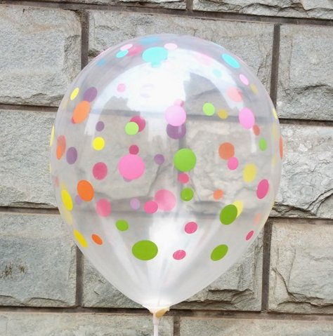 50Ct 12 Inch Clear Balloons Colorful Polka Dots Latex Helium Balloon Thickening Balloons for Party Festival -