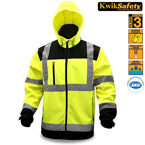 KwikSafety Class 3 High Vis Soft Shell Safety Jacket | AN...
