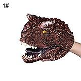 SSNsvj Simulation Dinosaur PVC Hand Puppet Doll Intelligent Role Play Toy Kids Gift Torosaurus