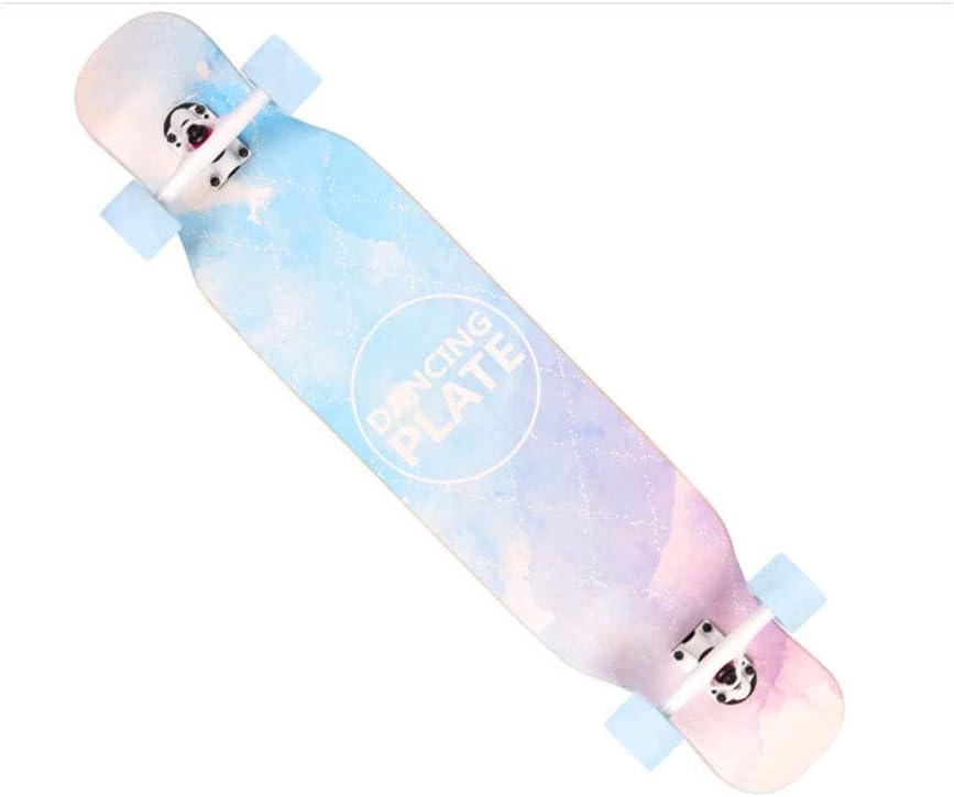 スケートボード、プロの四輪スケートボード、成人初心者、男性と女性、四輪スケートボード、8層メープル ウェアラブル、耐久性 Multi-colo赤1 107*23.5cm