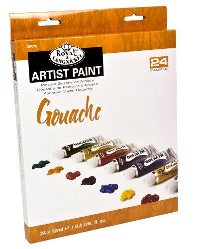 Royal & Langnickel Gouache Color Artist Tube Paint, 12ml, 24