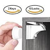 Balfer Baby Safety Magnetic Cabinet Lock Set No Drilling (10 Locks + 2 Keys)