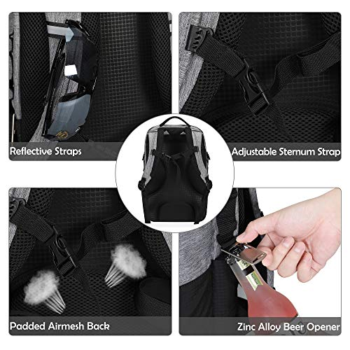 Bolsa-de-Almuerzo-22L-Cooler-Backpack-24-Cans-Cooler-Bag-Gris miniatura 4