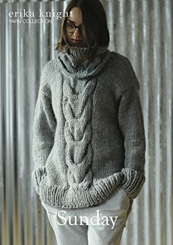 2fa0c075d6ee1e Erika Knight Ladies Sunday Sweater Maxi Wool Knitting Pattern Super Chunky  Erika  Knight  Amazon.co.uk  Kitchen   Home