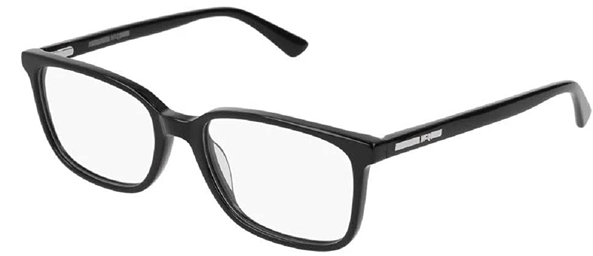 9b47dd6bb314 Eyeglasses Alexander McQueen MQ 0126 O- 001 BLACK   at Amazon Men s  Clothing store
