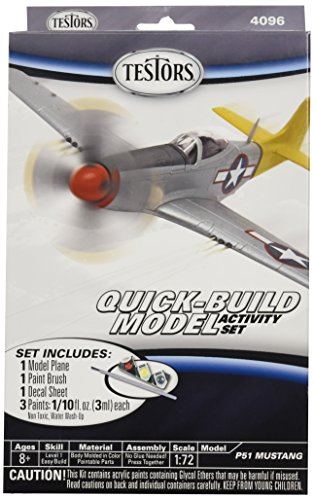 Testors P51 Mustang Quick Build Aircraft Model Kit (1:72 Scale)