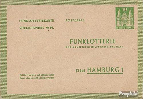 Prophila Collection Bizone (Alliierte Besetzung) FP2I Amtliche Postkarte 1950 Funklotterie (Belege Ganzsachen für Sammler)