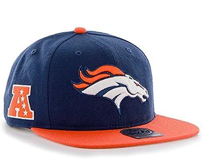 47 Brand Denver Broncos Two-Toned Super Shot Mens Snapback Hat F-SUSTT10WBS-LN