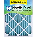 "Nordic Pure 16x24x2PBS-3 Pure Baking Soda Air Filters (Quantity 3), 16"" x 24"" x 2"""