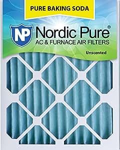 "Nordic Pure 20x25x2 Pure Baking Soda Odor Deodorizing AC Furnace Air Filters 20"" x 25"" x 2"" 3 Piece"