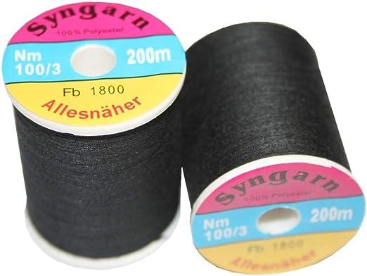 Poliéster de coser hilo para máquina de coser 100/3 1 bobina de ...