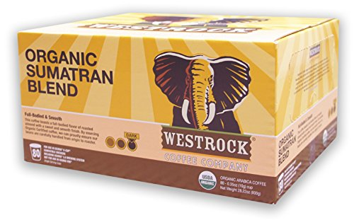 Westrock Coffee Company Organic Certified Sumatran Blend Dark Roast Gourmet Single Serve Cups 80 Count