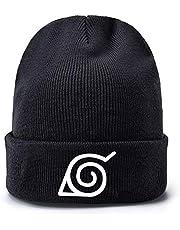ALTcompluser Anime Naruto Slouch Beanie czapka z nadrukiem, miękka czapka dzianinowa czapka narciarska czapka wełniana