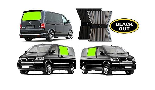 Juego de tres cortinas para autocaravana VWT5, cortinas centrales y trasera: Amazon.es: Coche y moto