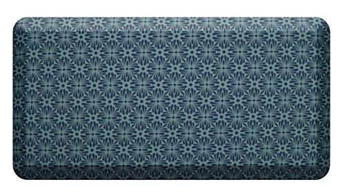 Licloud Anti-fatigue Mat Non-toxic Kitchen Mat Floor Mat Comfort Mat (20x39x3/4-Inch, Flower blue) by Licloud