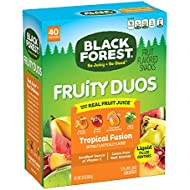 Black Forest Fruity Duos Fruit Snacks, Tropical Fusion, 0.8 Ounce, Pack of 40
