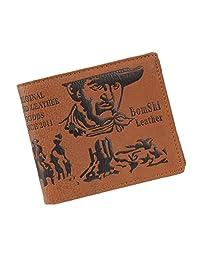 American Trends Men's Slim Dollar PU Credit Card Photo Holder Bifold Bill Wallet Color3
