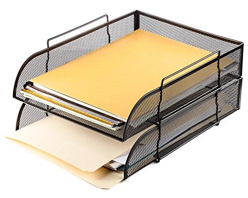 Halter Steel Mesh Horizontal File Paper Tray Desk