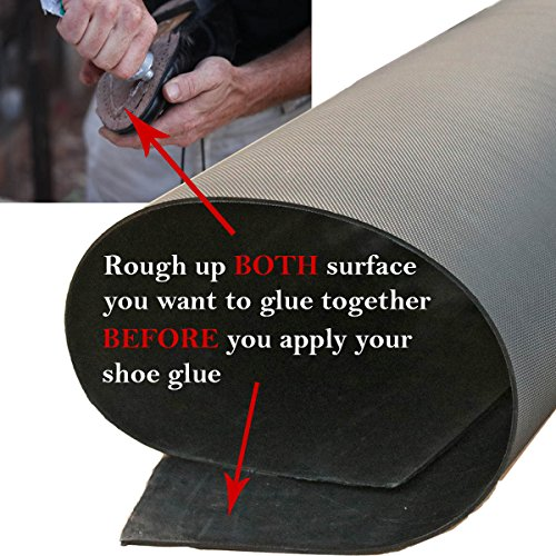 Black shoe rubber soling sheet - 1/8'' thickness Shoe soles repairing rubber sheet. Shoes bottom repairing material by EZ ShoePAD (Image #4)