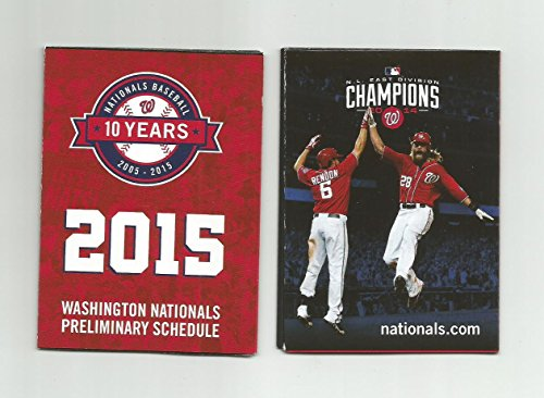 - 2015 Washington Nationals Pocket Preliminary Schedule - Anthony Rendon, Jason Werth
