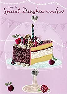 Amazon Special Daughter In Law Birthday Greeting Card Second
