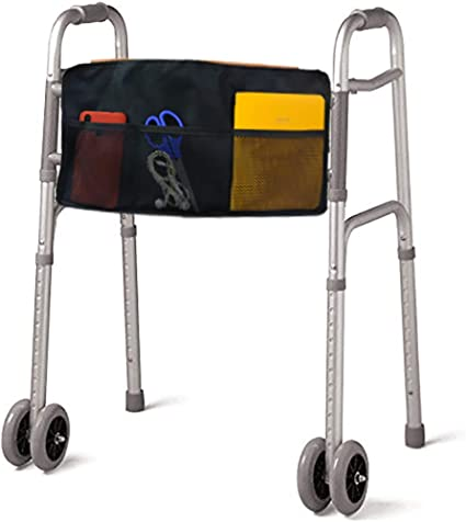 Amazon Com Folding Walker Bag Multi Pockets Accessory Basket Provides Hands Free Storage For Folding Walkers Attachment Fits Wide And Narrow Styles Tote Caddy Pouch For Elderly Seniors Handicap Disabled Health Personal Care