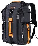 WITZMAN Outdoor Travel Duffels Backpack School Casual Daypack Canvas Rucksack (6695, Nylon Black)