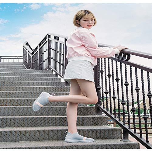 FangYOU1314 usables tamaño de Zapatos Antideslizantes Gris Ms Transpirable Student Gris 38 EU Calzados Joker Fly Informales Malla Color rW6BPrwq