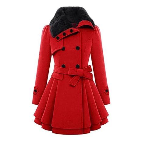 Abrigo de mujer, Xinan Chaqueta de abrigo de mujer abrigada Abrigo de parka grueso Abrigo