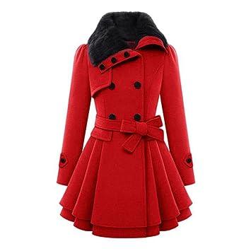 Abrigo de mujer, Xinan Chaqueta de abrigo de mujer abrigada Abrigo de parka grueso Abrigo largo de invierno (S, Rojo): Amazon.es: Bricolaje y herramientas