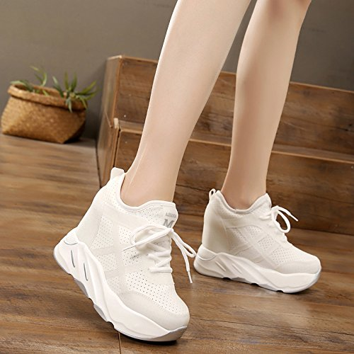 Shoes Breathes Bottom Summer Thick Four 100 White Sports Inside Heighten Single Shoe KPHY Shoes Summer Thirty Women'S White Shoe Owx8qSBP