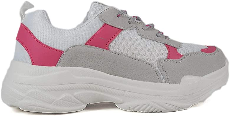Zapatillas para Mujer Tipo Casual, Calidad y Comodidad Maria Mare 67483 Gris-Fucsia: Amazon.es: Zapatos y complementos