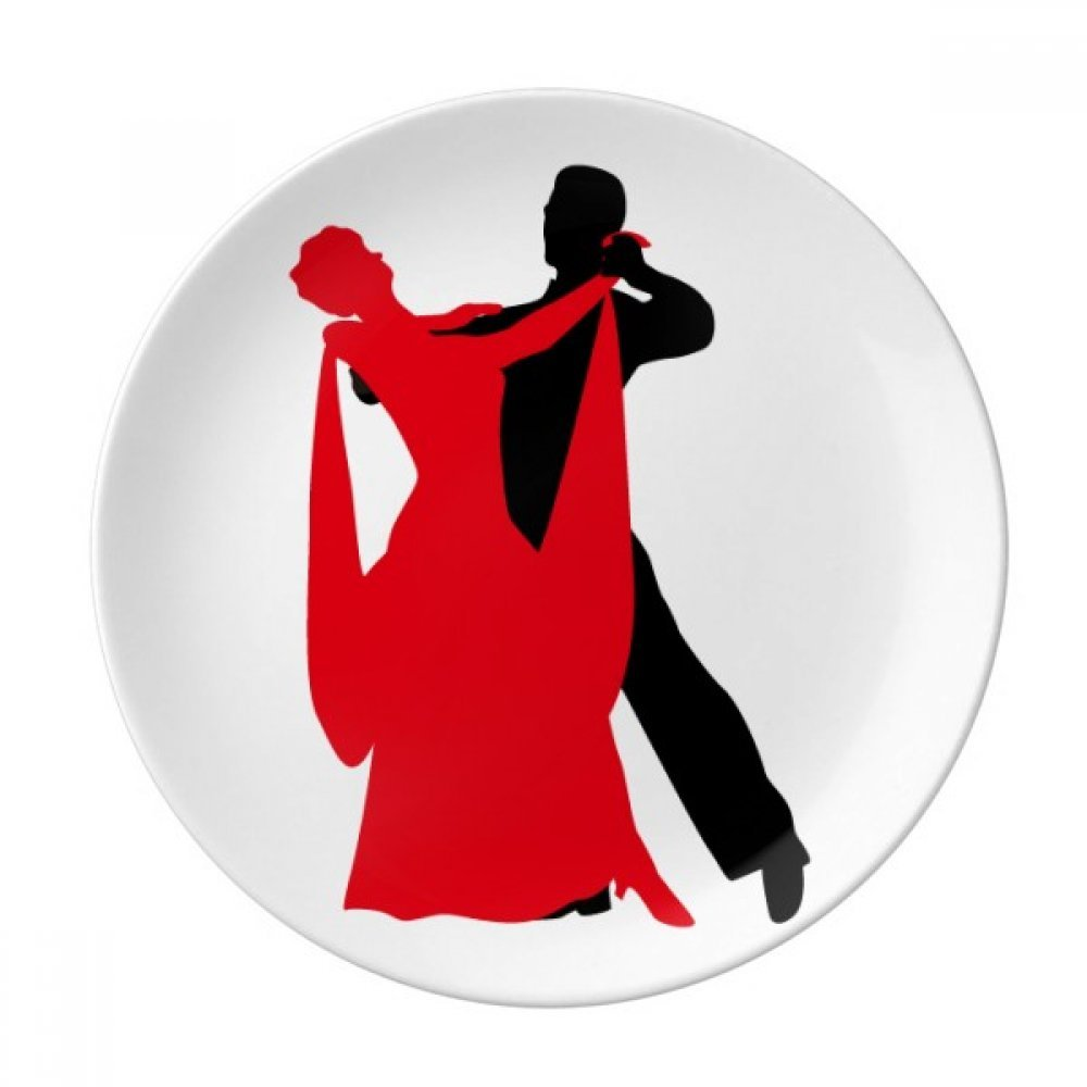 Social Dancing Duet Dance Dancer Dessert Plate Decorative Porcelain 8 inch Dinner Home