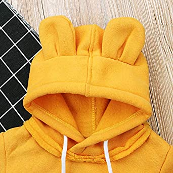 Toddler Baby Bear Ears Hooded Fleece Sweatshirt for Girl /& Boy Long Sleeve Animal Hoodie Winter Fall Outfit