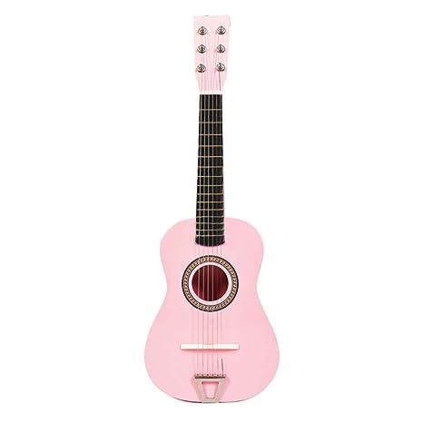 Yvsoo Guitarra Juguete 6 Cuerdas Guitarra Niños Infantil Madera Guitarra Instrumentos Musicales Educativos Simulación Juguete Regalo